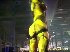 strapon sex show on public stage