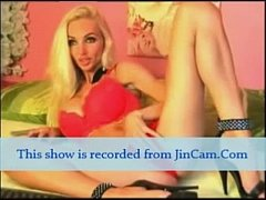 long leg mature blonde camgirl live masturbates...