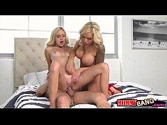 Nina Elle and Naomi Woods threesome sex