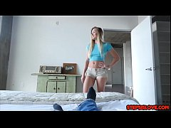Sexy teen Avalon Heart knows stepbro is a perv ...