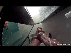 London Keyes's Sexy Shower Solo