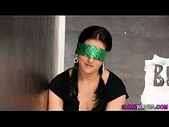 Blindfolded euro ho jizz