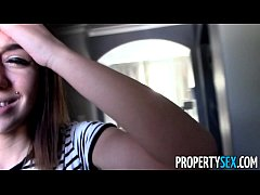 PropertySex - Tenant with amazing big tits busted for porn torrents