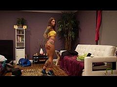 Felicity Feline Strip Tease Dancing and Stretch...