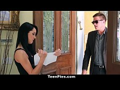 teenpies - brunette teen sabrina banks gets fucked and filled by her landlord