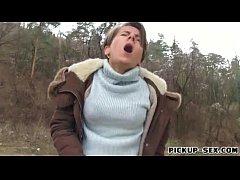 Czech girl Sasha Zima fucked in the woods for s...
