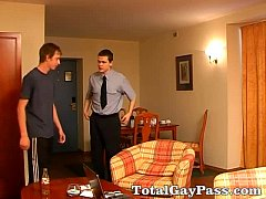 Gay couple ass spanking