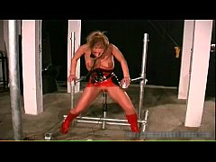 Foxy blonde babe gets bound and spanked part4