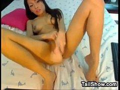 Horny Asian Chick Masturbates