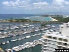 Balcony Blowjob In Hawaii