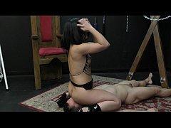 Mistress Kristina Rose Makes Her Slave Lick Her...