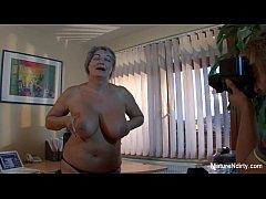 mature slut gets cum on her huge tits