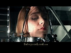 Young Alexis restrained in bondage devices and ...
