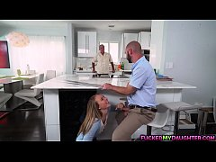 Alyssa Cole seduce and fuck with dad's friend