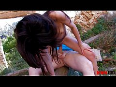 Skinny latina babe dominating older guy and get...