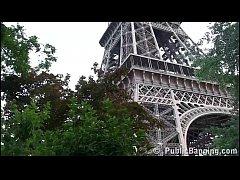 Eiffel Tower PUBLIC sex threesome orgy
