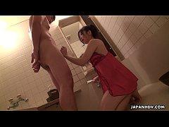 His sexy Asian wife Yuka getting her pussy eaten