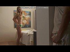 Beautiful girl nude massage with facial cumshot
