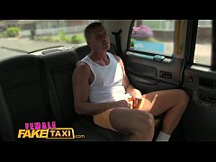 FemaleFakeTaxi Hot cabbie gives passenger blowjob