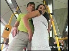 Fucking and sucking on the bus
