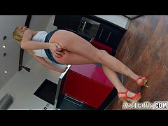 Ass Traffic sexy blonde enjoys a dick in her ti...