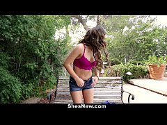 ShesNew - Shy Timid Girl's First Time On Camera