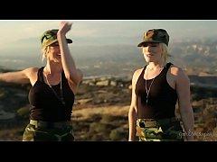 Blonde lesbian soldiers caught on - AJ Applegate, Alexis Fawx