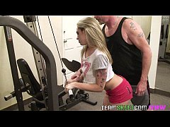 TheRealWorkout Tattooed smalltits blonde Bailey...