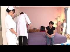 Miho Tsujii Asian nurse in need for cock in her...