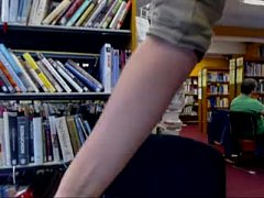 Awesome masturbation in public library - getmyC...