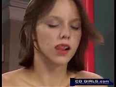 Teen amateur has a sybian machine orgasm