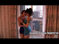 Two petite french girlfriends making out and ta...