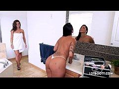 Latin MILF big ass lesbians and little bitch th...