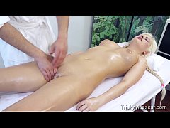 TrickyMasseur.com - Alberta Blance - Oiled Teen...
