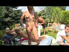 Czech Pool Garden Orgy