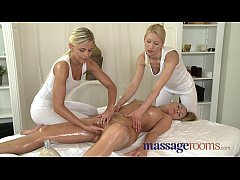 Massage Rooms Raunchy lesbian threesome after s...