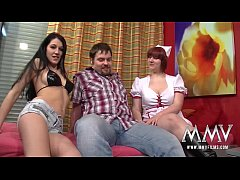 MMV FILMS Amateur threesome with creampie