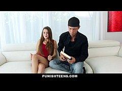 PunishTeens - Slender Brunette Gagged, Chained And Fucked Hard