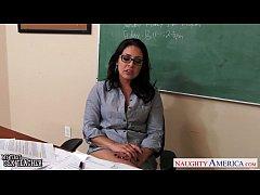 Busty teachers Gracie Glam, Kendra Lust sharing...