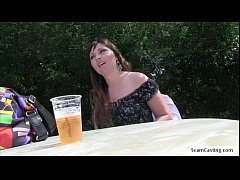 Big tits Sabina gets banged in the park by the ...