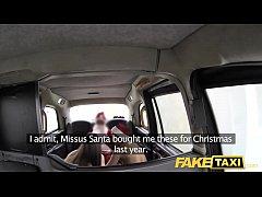 Fake Taxi Xmas theme special santa anal fucks the two elves