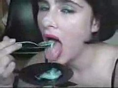 xhamster.com 4365189 eating cum with a spoon