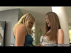 StepSiblings Two hot babes lick each others pus...