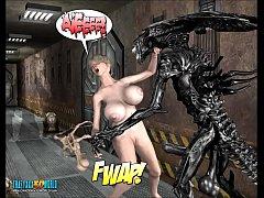 3D Comic: Spermaliens. Episode 3