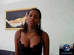 Ebony babe Maisa first time getting experiencing double penetration