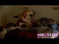 Pelea sexual en el Reality Show Porno de Madlifes.com mientras Aris Dark duerme