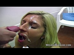 Big and heavy facials onto real amateurs