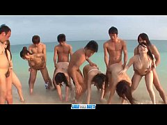 Subtitles - Outdoor orgy with beautiful japanes...