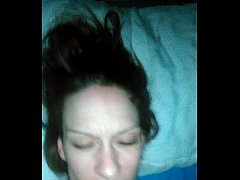 Training my wife to take oral creampie she get ...