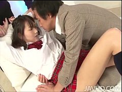 Shiori Utas teacher and tutor stop by to give h...